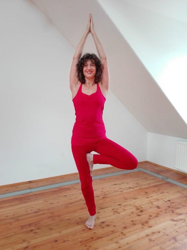 Yoga im Raum für Yoga und Strömen